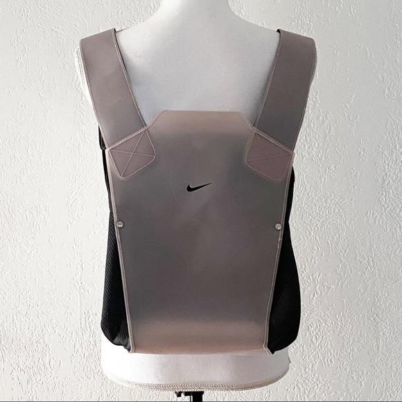 Nike Dusty Mauve and Black Vinyl Plastic  Backpack Purse
